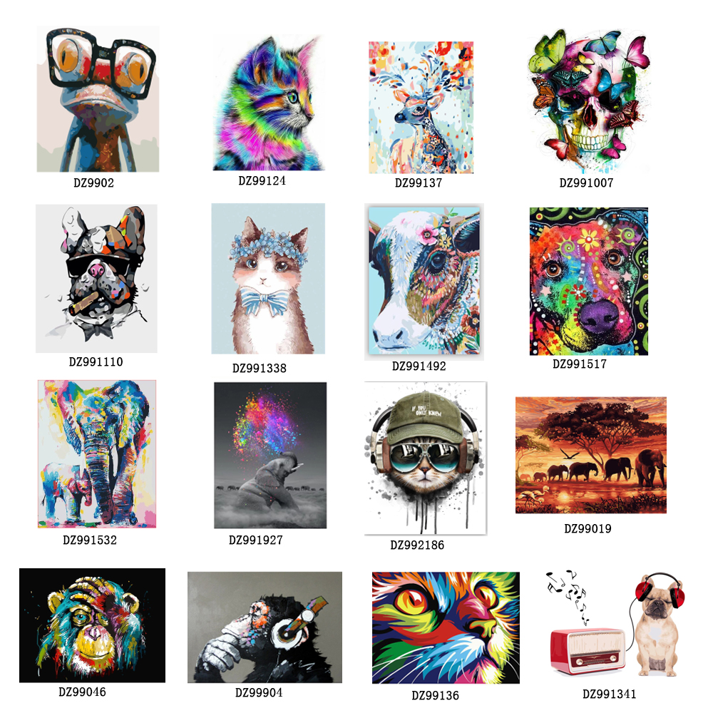 Top Selling Diy Oil Digital Painting By Numbers Kits Abstract Acrylic Paint By Numbers For Adults Home Decor