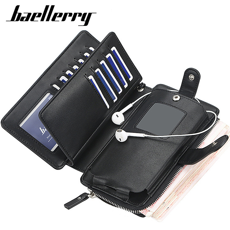 2020 New Men Wallets 16 Card Slots High Quality Large Capacity Men Wallets Zipper Brand Male Purse PU Leather Wallet For Men