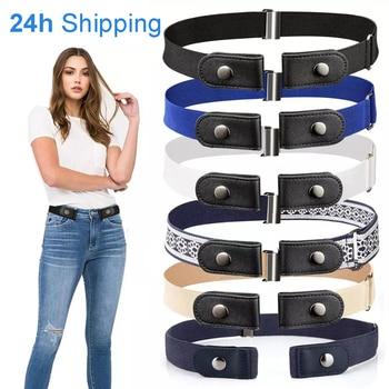 20 Styles Buckle-Free Waist Belt For Jeans Pants,No Buckle Stretch Elastic Waist Belt 1