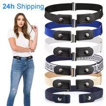 Cinturón de cintura sin hebilla para pantalones vaqueros, cinturón de elasticidad elástica de la cintura sin hebilla, 20 estilos