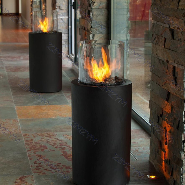 AMT-916-1 Outdoor Round Patio Fireplace Heater  3