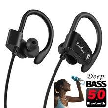 Auriculares inalámbricos con Bluetooth 5,0, dispositivo deportivo con cancelación de ruido, estéreo de graves profundos con micrófono