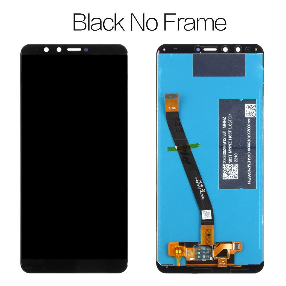 Color : Black LCD Screen Mobile Phone and Digitizer Full Assembly with Frame for Huawei Enjoy 8 Plus Black