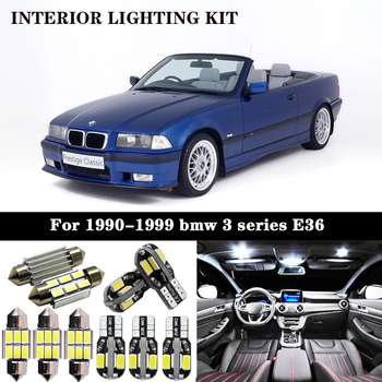 16x LED License plate Interior Lights bulb Kit for 1990-1999 bmw 3 series E36 Sedan coupe M3 316i 318i 320i 323i 323is 325i 328i image