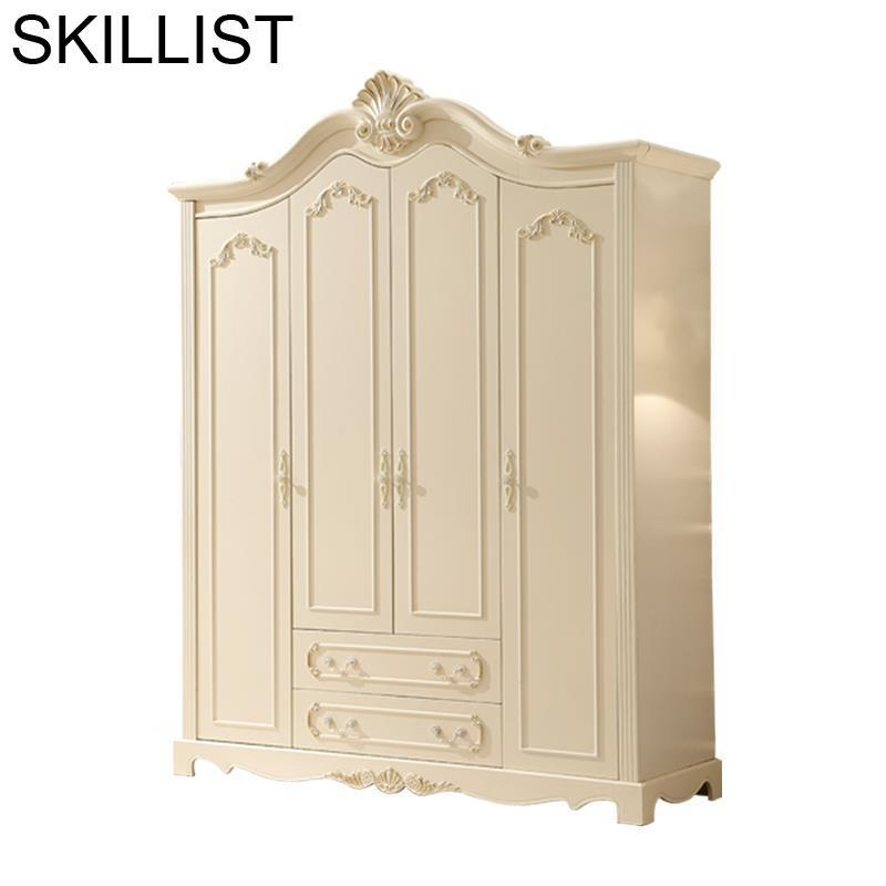 Madera Wooden Armoire Rangement Vetement Storage Quarto European Closet Cabinet Mueble De Dormitorio Bedroom Furniture Wardrobe