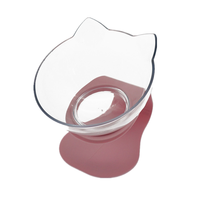 Pink Single-Non-Slip Double Cat Bowl Dog Bowl With Stand Pet Feeding Cat