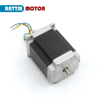 NEMA23 stepper motor 270Oz-in Dual shaft 3A 76mm length 4 Leads for 3D printer / CNC Router Engraving Milling Cutting Machine image