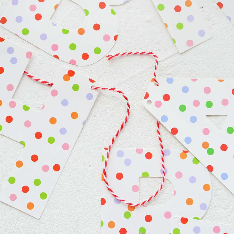 С Днем Рождения Бумаги Баннер Тутти Frutti струна флаг гирлянда плетение фрукты Тематические дети день рождения украшения поставки
