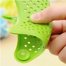 Home Supplies Silicone Kitchen Sink Filter Sewer Drain Hair Colanders  Strainers Bathroom