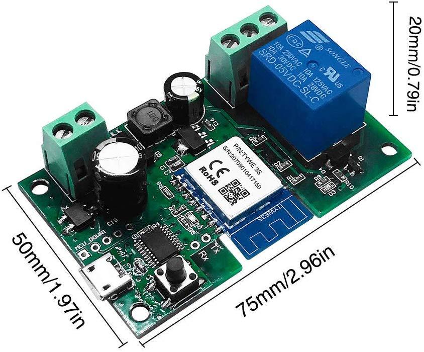 Tuya/Smart Life Smart Wifi Relay Module Momentary DIY Smart Home Remote Control Wireless Smart WiFi Inching Relay Switch