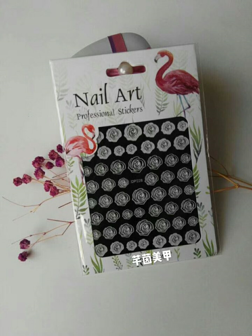 New Style 2018 Manicure Flower Stickers Manicure Miniature Engraving Adhesive Paper Manicure Miniature Engraving Flower Stickers