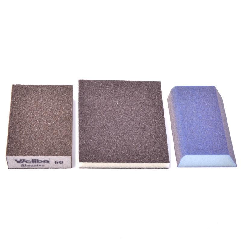 Sponge Sanding Block Sandpaper Elastic Grinding Block Sponge Sand Block Amber Crafts Furniture Polishing Water-Resistant Rust Re