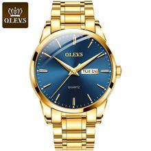 Шоутайм часы для мужчин люксовый бренд кварцевые наручные часы золотые часы водонепроницаемые нержавеющей стали мужские часы часы с календарем