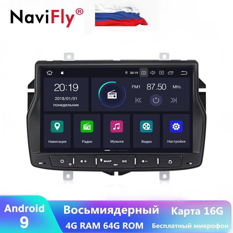 Android9.0 Octa core russie menu 4G RAM 64G ROM autoradio cassette pour Lada vesta Cross Sport 2015-2019 autoradio wifi