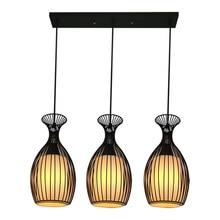 цены на modern pendant lamp iron simple chandelier modern industrial metal chandelier restaurant living room bar E27 bowling chandelier  в интернет-магазинах