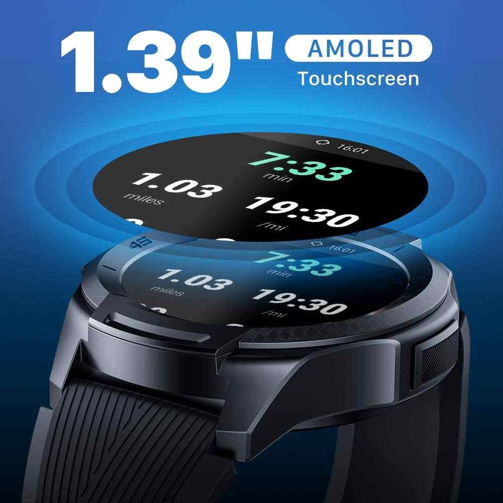 Ticwatch S2 着用osアンドロイド着用スマートウォッチのbluetooth gps男性 5ATM防水ios & androidのロングバッテリ寿命