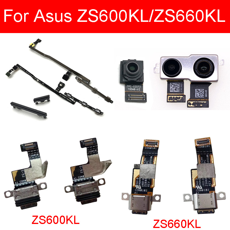 USB Charging Port Dock Board For ASUS ROG Phone II 2 ZS660KL/ZS600KL  Front&Back Rear Camera Power&Volume Side Button Flex Cable