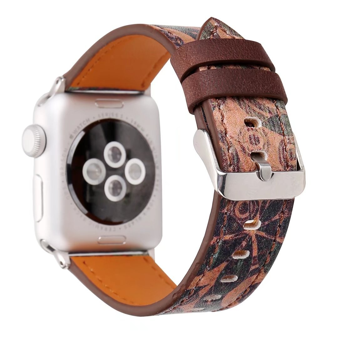Suitable For Apple Watch Leather Watch Strap Retro Style Leather Watch Strap Applicable APPLE Watch Strap New Products