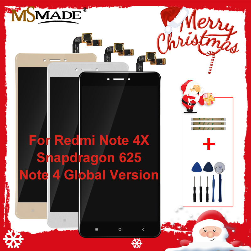 AAA Quality LCD For Xiaomi <font><b>Redmi</b></font> <font><b>Note</b></font> 4X LCD Display <font><b>Screen</b></font> <font><b>With</b></font> <font><b>Frame</b></font> For <font><b>Redmi</b></font> <font><b>Note</b></font> <font><b>4</b></font> Global Version LCD For Snapdragon 625 image
