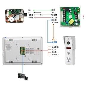 Image 5 - HomeFongวิดีโออินเตอร์คอมแบบมีสาย10นิ้วBuilt In Power Supply 130องศากล้องHome Intercom Motion Detectบันทึก