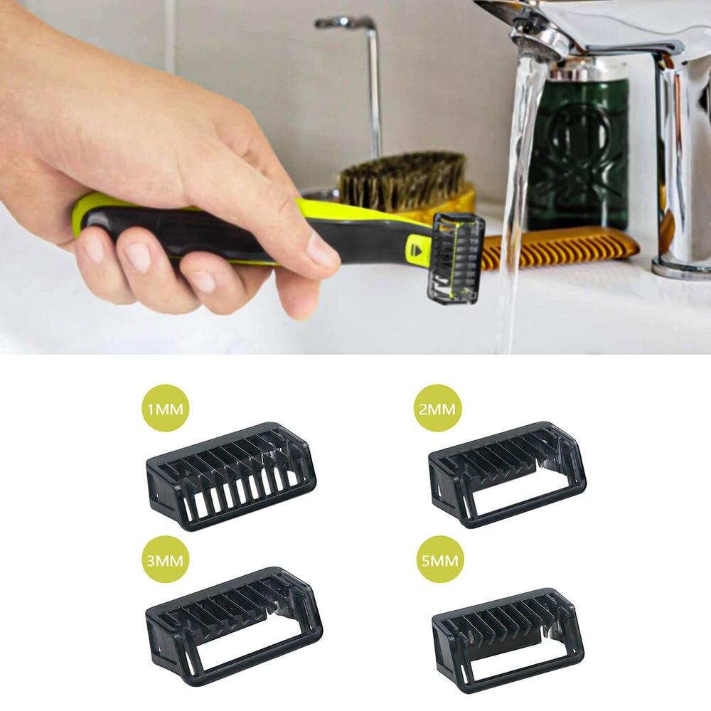 Профессиональная Мужская расческа 1 2 3 5 мм триммер машинка для стрижки позиционирование Расческа для кожи тела для P-hilips Norelco одно лезвие для...
