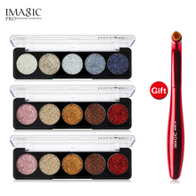 IMAGIC makeup eyeshadow palette  Buy 3 Get 1 Gift 3pcs/set 5 Colors Glitters Eye shadow a Eyeshadow Brush gift