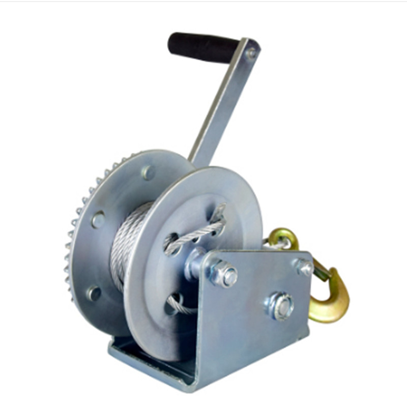 1400lbs-1600lbx8/15M Boat Truck Auto Hand Self-locking Manual Winch Hand Tool