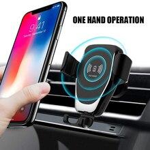 Carregador sem fio para carro e iphone, 10w, carregamento rápido, sem fio, automático, para samsung s10, s9, s8 plus, a70, a50, iphone 11, 8 plus