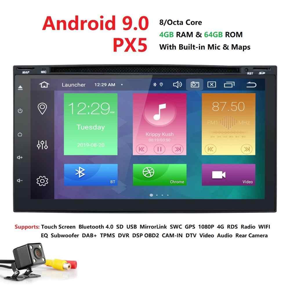 """7 """"ユニバーサル 2 喧騒車のラジオ gps android9.0 PX5 8OctaCore 4 ギガバイトの RAM 64 ギガバイト ROM カーステレオプレーヤー Gps ナビゲーションの Bluetooth Usb カムマップ"""