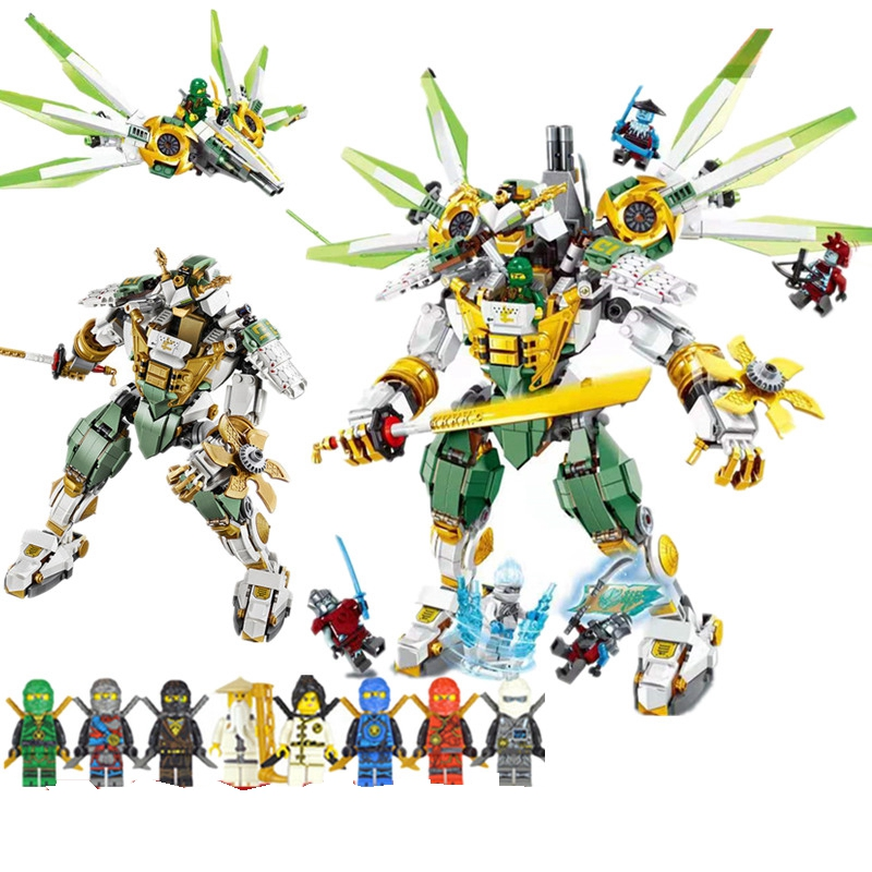 Ninja Series Bricks Lloyd's Titan Mech Building Blocks Compatible Legoingly <font><b>Ninjagoing</b></font> 70676 City Classic Toys Marvel Movie image