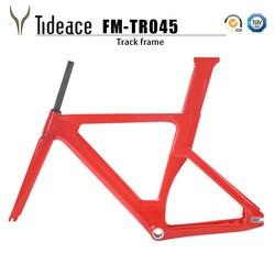 Cuadro de bicicleta de pista de carbono Marco de bicicleta de piñón fijo de fibra de carbono Marco de bicicleta de seguimiento de carreras de carbono 49/51/54/57cm