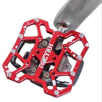 2 sztuk stopu aluminium rower zatrzaskowe pedał platforma adaptery do SPD KEO pedały MTB Mountain Road Bike akcesoria tanie i dobre opinie Rowery górskie Clipless Pedal 10x8x3 cm Aluminium stop Ultralight pedału