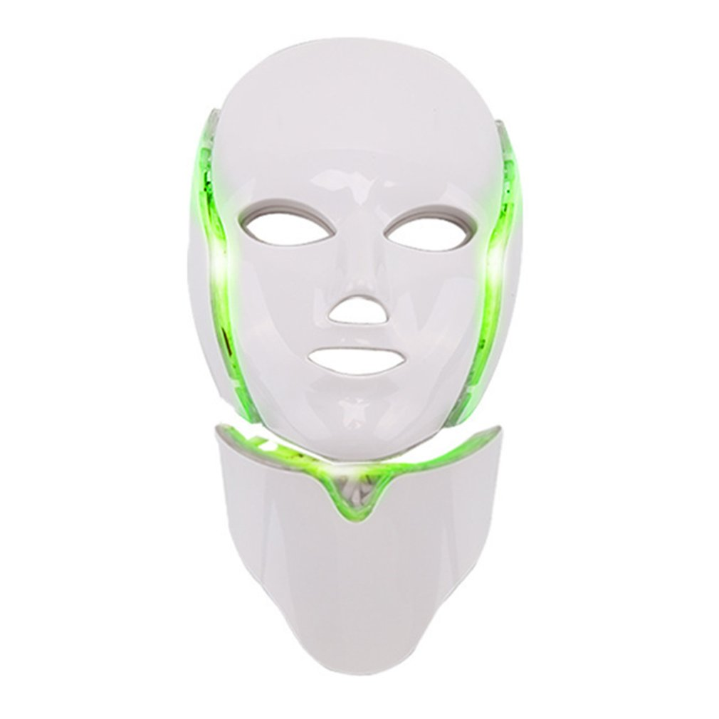 7 Colors LED Facial Mask Spectrometer Led Therapy Mask Light Therapy Acne Neck Face Mask Korean Skin Care OPP Bag Pack|Home Use Beauty Devices| - AliExpress