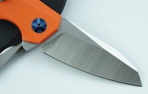 Image 2 - Lemifshe zt 0456 tático faca dobrável g10 lidar com d2 lâmina rolamento flipper caça bolso faca de acampamento sobrevivência ferramentas edc