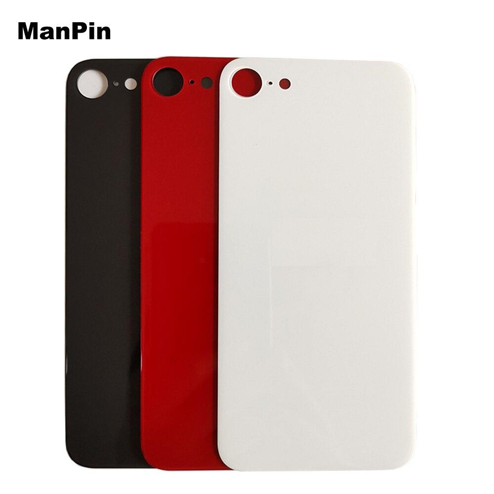 5 шт./лот стекло для задней панели экрана для iPhone SE2 большое отверстие ЖК-дисплей сломанный аккумулятор задняя крышка мобильный телефон ремо...