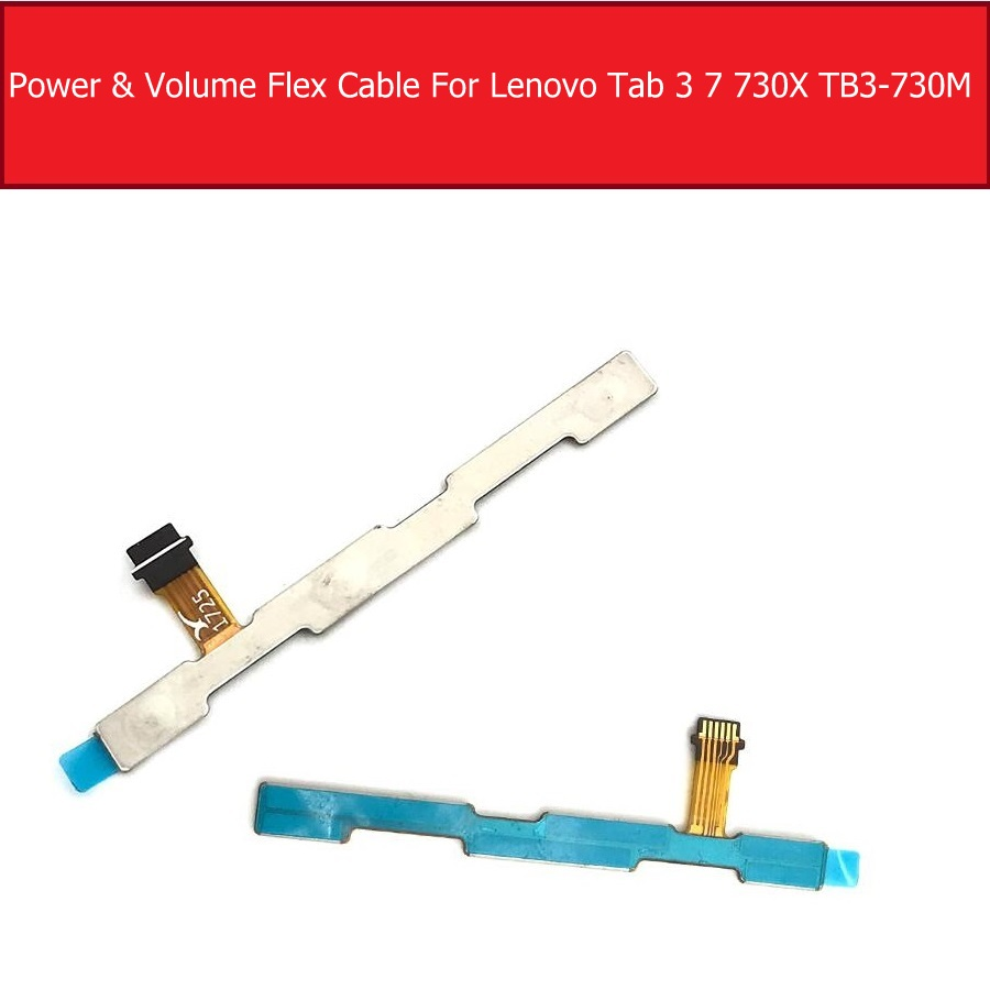 Switch On Off Power Volume Flex Cable For <font><b>Lenovo</b></font> <font><b>Tab</b></font> <font><b>3</b></font> <font><b>7</b></font> TB3-730 730M 730L 730X Power Sleep Button & Volume Button Flex Ribbon image