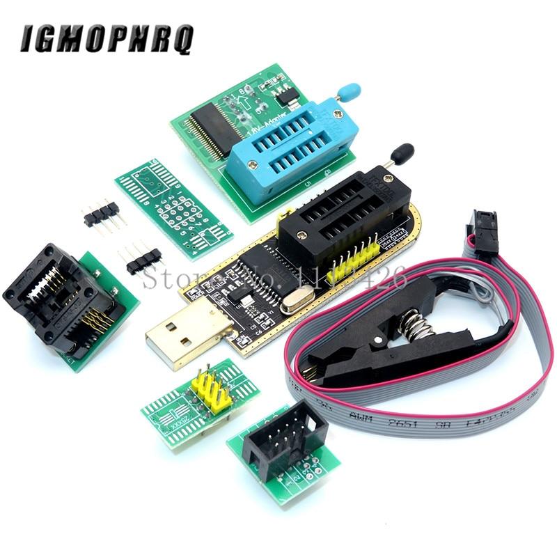 CH341A 24 25 серия EEPROM Flash BIOS USB программатор модуль + SOIC8 SOP8 тестовый зажим + адаптер 1,8 В + SOIC8 адаптер DIY KIT