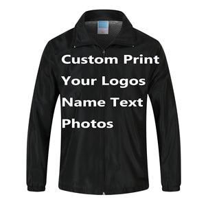 Image 2 - Customเสื้อWindbreaker DIYพิมพ์เย็บปักถักร้อยออกแบบโลโก้รูปภาพลมบางProof Coatแจ็คเก็ตโฆษณาบริษัทบริการ