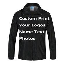 カスタムジャケットウインドブレーカーdiyプリント刺繍ロゴデザイン写真薄型風証拠コートジャケット広告会社サービス