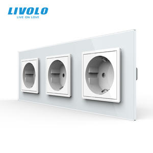 Livolo Outlet-Panel Power-Socket Wall Without-Plug Triple Toughened-Glass Standard New