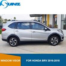 Side Window Deflector For Honda BRV 2016 2017 2018 Window Shield Cover Window Visor Vent Shade Sun Rain Deflector Guard SUNZ