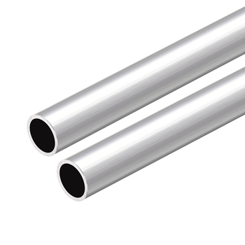 Uxcell 2 uds 6063 tubo redondo de aluminio 300mm de longitud 15mm OD 13mm diámetro interior tubo recto de aluminio sin costura