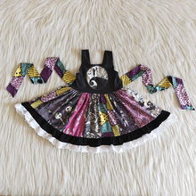 Dress Children Halloween Twirl Kids Wholesale Boutique Toddler Party Baby-Girl Fashionable