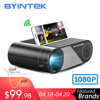 Byintek Mini Projector K9  1280X720P  Draagbare Video Beamer; led Proyector Voor 1080P 3D 4K Cinema (Optie Multi Screen Voor Iphone-in LCD Projectoren van Consumentenelektronica op
