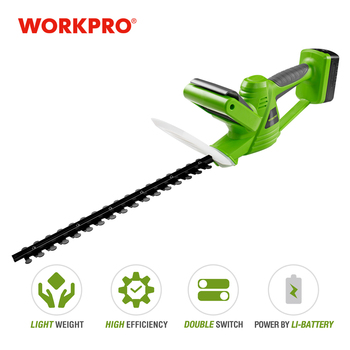 WORKPRO 18V Electric Trimmer Lithium-ion Cordless Hedge Trimmer Rechargeable Weeding Shear