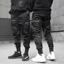 2021 Hip Hop Boy Multi-pocket Elastic Waist Harem Pants Men Streetwear Punk Casual Trousers Joggers Male Ankle-length Mens Pants