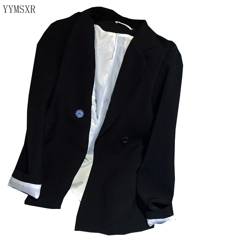 Casual women's jacket blazer feminine 2020 new spring and autumn black ladies jacket tops elegant Female Small suit high quality