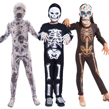 Halloween Kostuums voor Kinderen Horror Zombies Jongen Meisje Skeleton Dress up Fantasy Clipart Jumpsuit Kids Onesie Monster Kostuum
