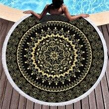 2019 Bohemia Printed Beach Towels Round Microfiber Large Blanket Picnic Yoga Mat Sunbath Serviette De Plage