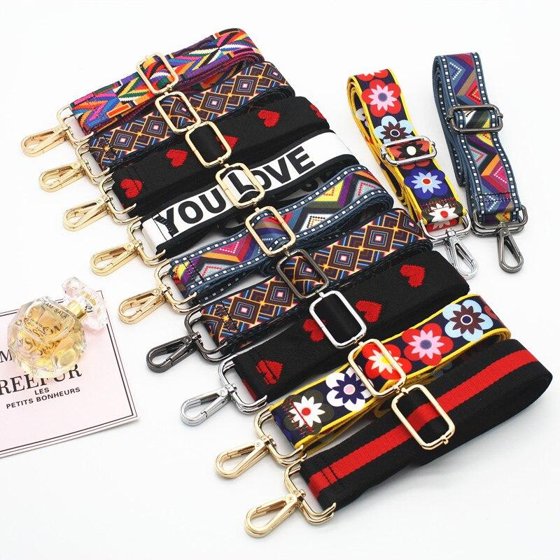 Colored Bag Strap Handbag Belt Wide Shoulder Bag Strap Replacement Strap Accessory Bag Part Adjustable Belt For Bags 130cm Obag